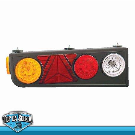 Lanterna Traseira LED Semi-Reboque / Ré com Lâmpadas / com Triângulo (2055) Lado Esquerdo 24v