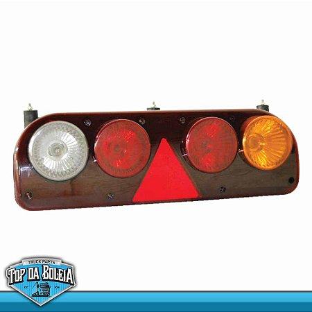 Lanterna Traseira Guerra (3000) Lado Esquerdo com Lâmpadas 12v