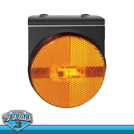 Lanterna LED Posição Retrorrefletor com Suporte (1270/4) Acrílico Ambar / Rubi / Cristal / Verde Bivolt