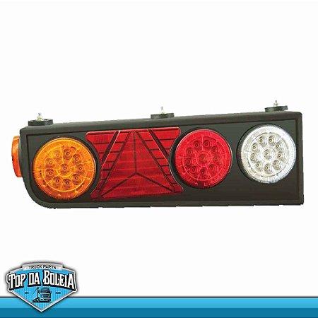 Lanterna Traseira LED Semi-Reboque com Triangulo (2056) Lado Direito 24v