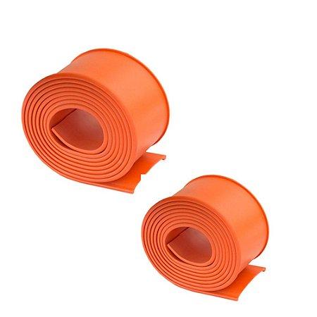 Par de Cintas de Borracha laranja 76mm para Tanque de Combustível 660 680mm