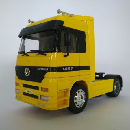 Miniatura Caminhão Mercedes-benz Actros Toco 4x2 Escala 1:32 Amarelo