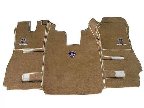 Jogo de tapetes para caminhão Scania cabine R Carpete Luxo