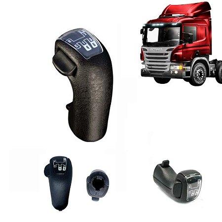 Manopla câmbio caminhão Scania 124 após 2006 6 marchas 1727377