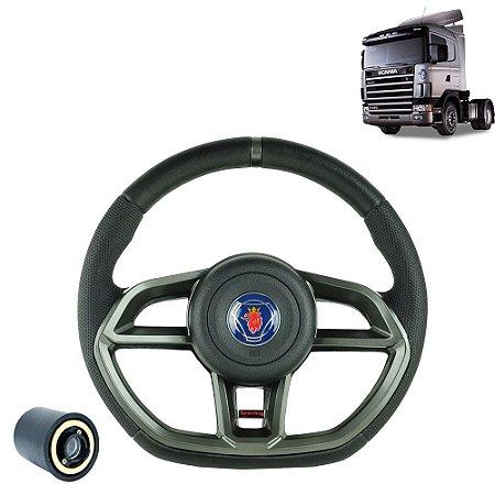 Volante esportivo para caminhão Scania S4 c/cubo mod Golf GTI