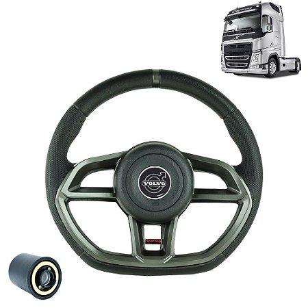 Volante esportivo para caminhão Volvo FH c/cubo mod Golf GTI