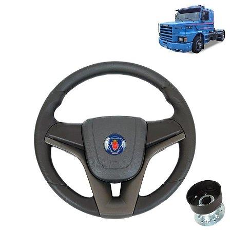 Volante esportivo para caminhão Scania 112 c/cubo mod Cruze