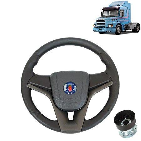 Volante esportivo para caminhão Scania 113 c/cubo mod Cruze
