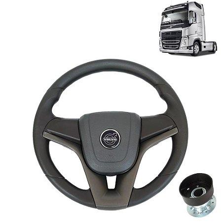 Volante esportivo para caminhão Volvo FH c/cubo mod Cruze