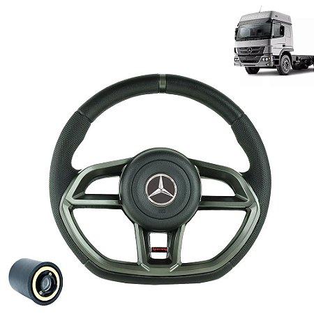 Volante esportivo para caminhão MB Atego c/cubo mod Golf GTI