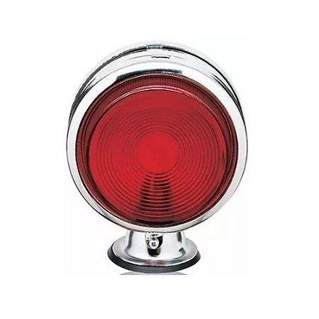 Lanterna Foguinho Vermelha Cromada