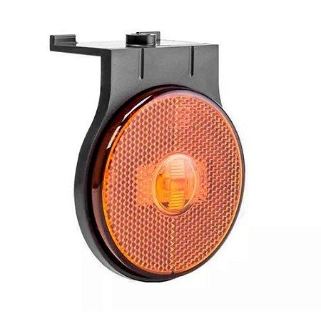Lanterna lateral de led Laranja Carreta 85 mm 12V 24V com fio