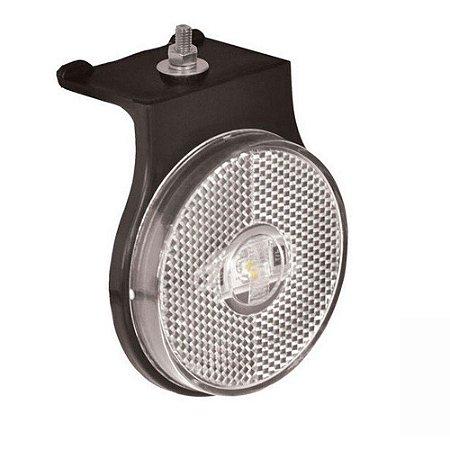 Lanterna lateral de led Branca Carreta 85 mm 12V 24V com fio