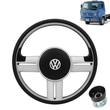 Volante esportivo para caminhão VW Delivery 8 150 c/cubo mod Saveiro Surf