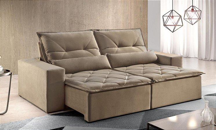 Sofá retrátil e reclinável Atlanta - Tecido animale itabirito