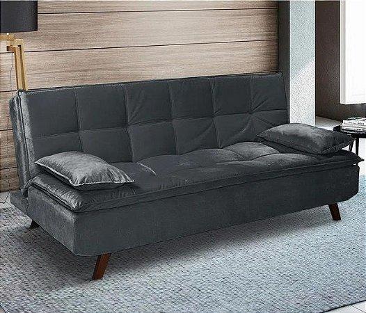 Sofá cama casal Irlanda - Tecido animale cimento