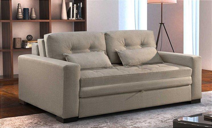 Sofá cama casal Confort - Tecido rústico montreal