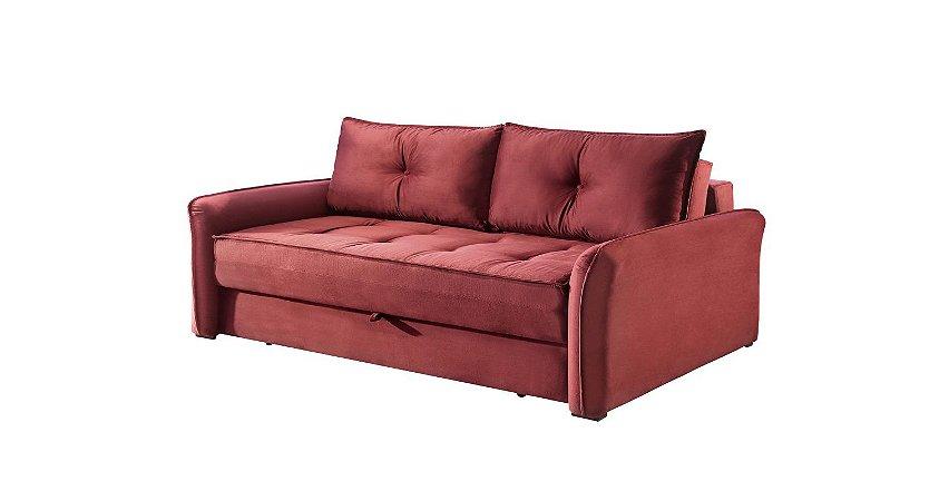 Sofá cama casal Tunísia - Tecido camurça linhares