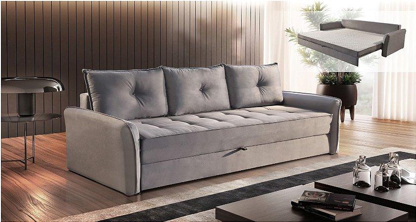 Sofá cama casal Downton - Tecido camurça aracruz