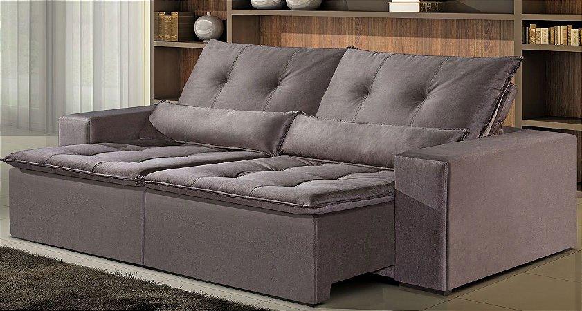 Sofá retrátil e reclinável Madri - Tecido camurça aracruz
