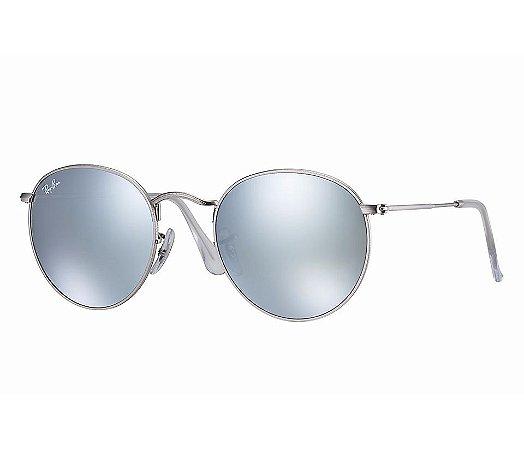1569e58366a6a ROUND METAL LENTES ESPELHADAS - RB3447 - Óculos de sol