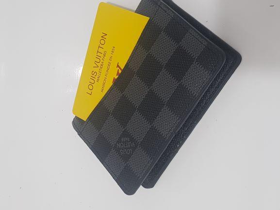 Carteira porta cartões / moeda em couro Louis Vuitton