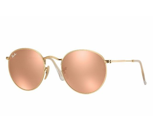 24f5d7807 RAY-BAN ROUND METAL ROSE - 3447 LENTES ESPELHADAS | MOON LIGHT ...