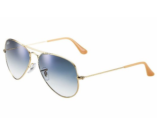 RAY-BAN AVIADOR|AVIATOR GRADIENTE - METAL DOURADO DEGRADÊ AZUL - RB3025