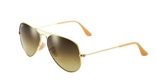 RAY-BAN AVIADOR CLÁSSICO - GRADIENTE MARROM DEGRADÊ RB3025L  E RB3026