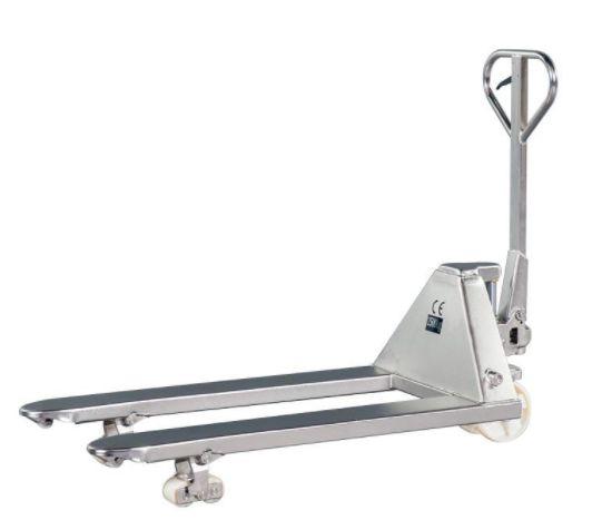Paleteira Manual 100% Aço Inox - 2.5T - Rodado Duplo - NY | Empilhadeiras Catarinense