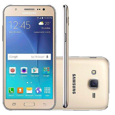 Smartphone Samsung Galaxy J7 Duos SM-J700M, Octa Core, Android 5.1, Tela 5.5, 16GB, 13MP, 4G, Dourado