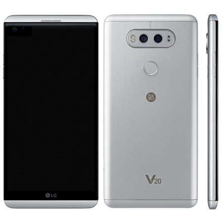 """Smartphone LG V20 H990 LTE Dual Sim Tela QHD 5.7"""" 4GB/64GB Câm.Dual 16MP+8MP/5MP- Prata"""