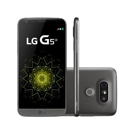 "Smartphone LG G5 SE H840 32GB LTE 1Sim Tela 5.3"" 8Core Câm.16MP/8MP+8MP-Titânio"