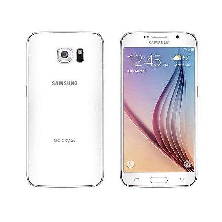 "Smartphone Samsung Galaxy S6 Edge SM-G925F 1Sim Tela 5.1"" 64GB 4G LTE Branco"