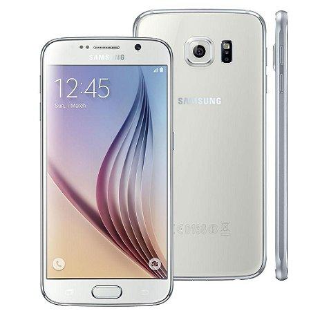 "Smartphone Samsung Galaxy S6 SM-G920F 1Sim Tela 5.1"" 32GB 4G LTE Branco"