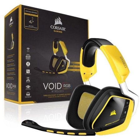Headset Corsair Gaming Void Wireless RGB Com Microfone