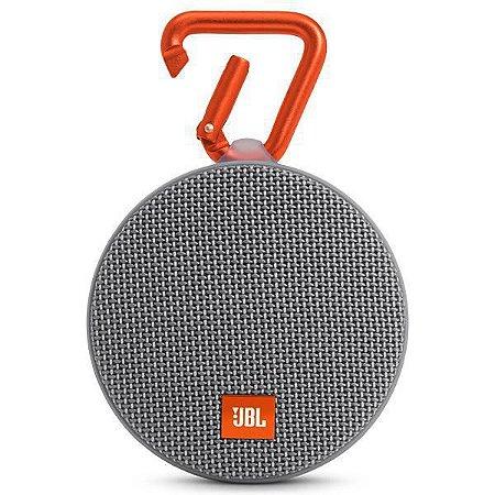 Speaker Bluetooth Portátil JBL Clip 2 3.5mm - Cinza