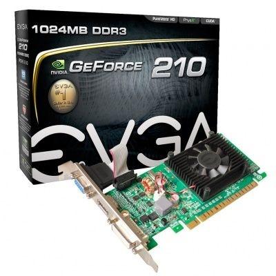 Placa de Vídeo EVGA GeForce GT 210 1GB 01G-P3-1312-LR