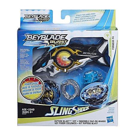 Lançador e Pião de Batalha - Beyblade - SlingShock - Forneus F4 - Hasbro