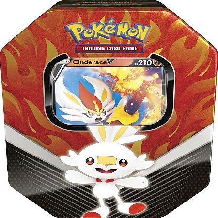 Cards Pokémon - Deck Lata - Parceiros De Galar - Cinderace - Copag