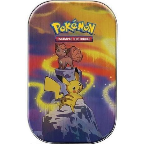 Jogo de Cartas Pokémon - Deck Lata - Poder de Kanto - Pikachu e Vulpix- Copag