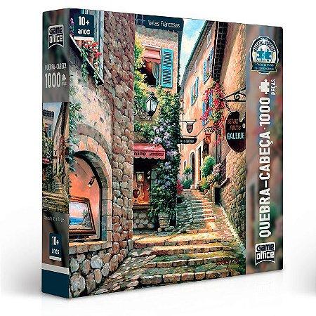 Quebra-Cabeça - Vielas Francesas - Escadarias - 1000 Peças - Toyster