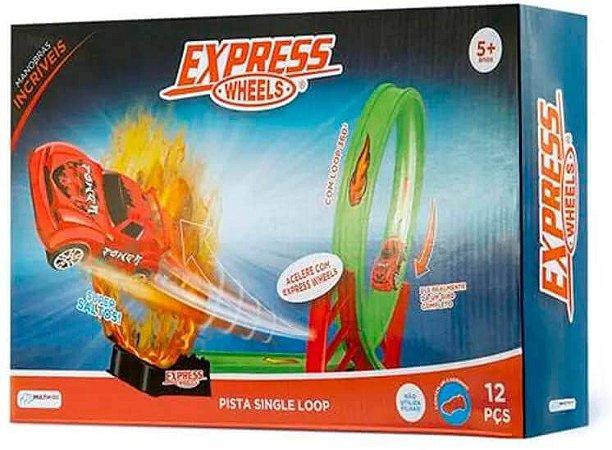 Pista De Corrida Single Loop 360 Graus Express Wheels Multikids BR1017