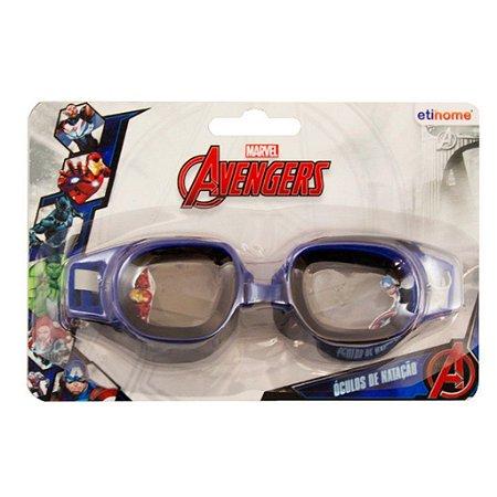 Oculos para Natação Infantil Avengers Azul/Preto
