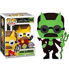 Funko Pop Os Simpsons - Diabo Flanders, Brilha no Escuro