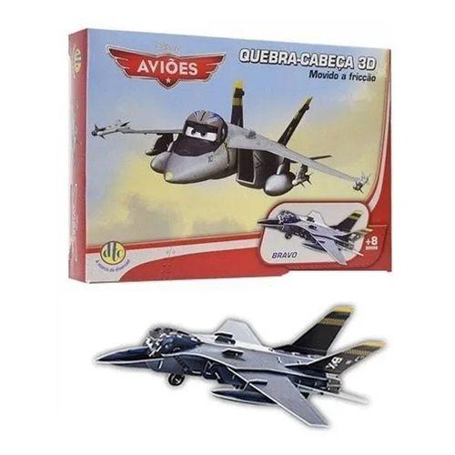 Quebra-Cabeça 3D Carros/Aviões Disney  - Bravo