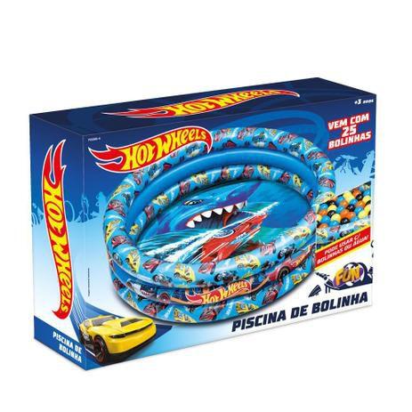 Piscina De Bolinhas Inflável Hot Wheels Com 25 Bolinhas Fun