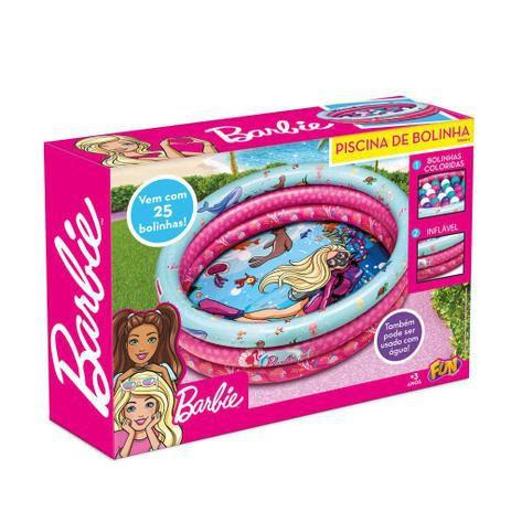 Barbie - Piscina de Bolinhas Inflável com 25 Bolinhas
