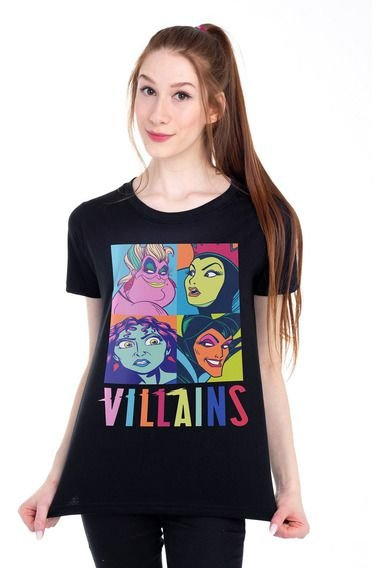Camiseta Baby Look Feminina Vilãs Piticas - Disney BL G