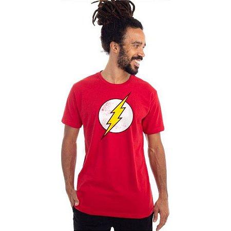 Camiseta Logo Flash DC Comics - Vermelha - Piticas M